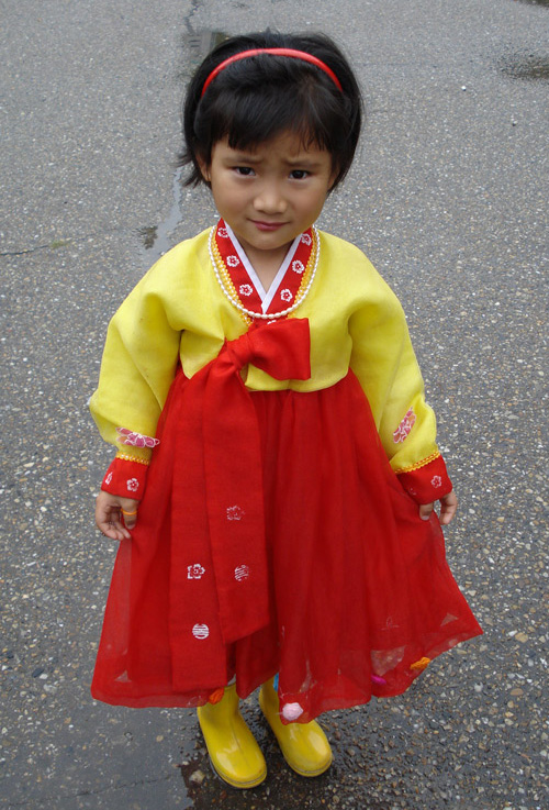 Северокорейская девочка
